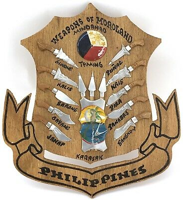 Philippines Weapons of Moroland Mindanao Wooden Wall Plaque