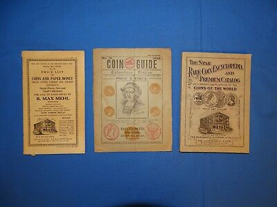 Old Coin & Paper Money Catalogs, B.MAX MEHL, 1926 & 1893 Collins & Co.