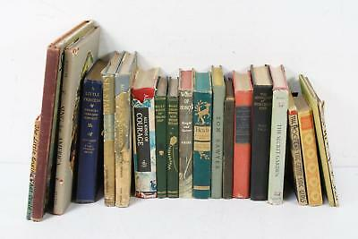 Lot of 20 Antique Decorative Hardcover Classic Children's Stories & Fable Books