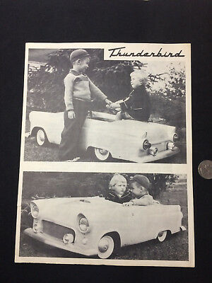 1950s Thunderbird Junior Powercar Childrens Car Brochure News Letter Mystic CT
