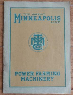 RARE Early 1900's THE GREAT MINNEAPOLIS LINE POWER FARMING MACHINERY