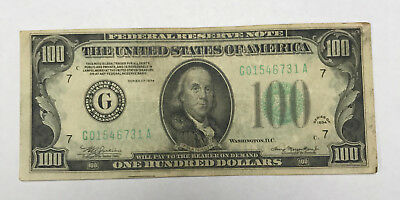 1934 100 dollar bill federal reserve note