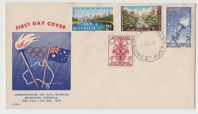Stamps Australia 1956 Olympic Games set of 4 on Guthrie cachet FDC unaddressed