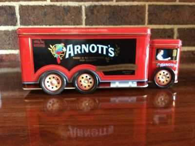 Arnotts Truck Biscuit Tin Delivery Truck - Red & Black - 2008 - Collectable