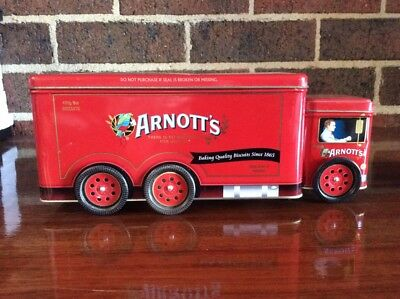 Arnotts Truck Biscuit Tin Delivery Truck - Red - 2008 - Collectable