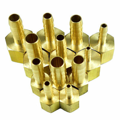 Brass Hose Tail Barb Fitting Female Connector Fractional Size X NPT Thread