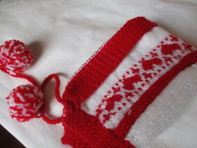 Vintage Knitted 1950's Baby Bonnet. NEW. 1-2 yrs  Wool Very Cute