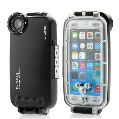 40m 130feet Underwater Waterproof Dive Transparent Housing Case For iPhone 8