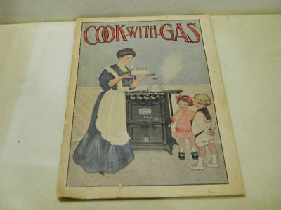 Vintage Cooking with Gas Jewel Detroit Stove Range Advertising Booklet W/Recipes