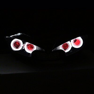 LED Angel Eyes Headlight Assembly HID Projector Fit For Yamaha YZF R6 2003-2005