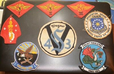 Lot of (8) Genuine Assorted Vintage Military Patches Marines Air Force