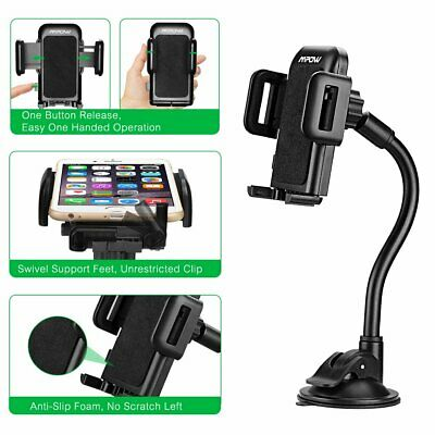 MPOW Car Windshield Stand Mount Holder Long Arm SUCTION CUP For iPhone Phone