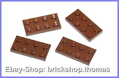 LEGO 20 x plaque de base 2x6 brun rouge Reddish Brown Basic plate 3795 4211247