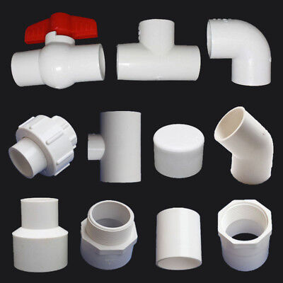 20/25/32mm PVC Ball Valve/End Cap/90° Elbow/Tee Connectors Water Pipe Adapter
