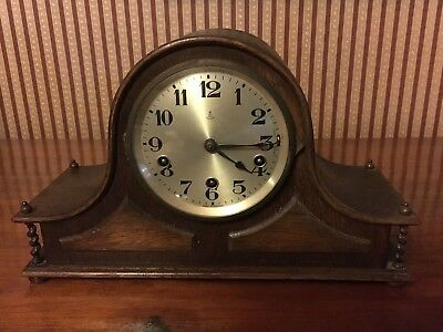 Antique Gustav Becker mantle clock. 1850s. Lovely condition. Working.