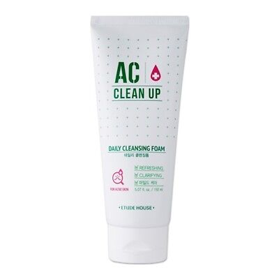 Etude House AC Clean Up Daily Acne Foam Cleanser 150ml / Free Gift / Cosmetic