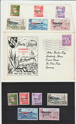 Herm Island - 1961 Europa - Set Of Stamps + Fdc