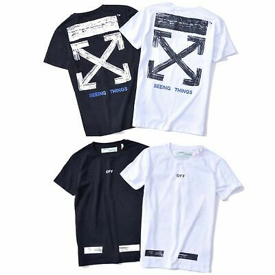 🇦🇺 AU STOCK NEW OFF WHITE C/O Virgil Abloh Cotton T-Shirt Short Sleeve Stripe