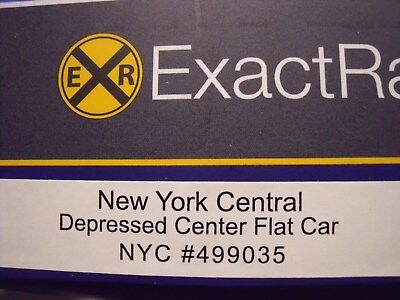 NYC New York Central ExactRail Depressed Center Flat Car