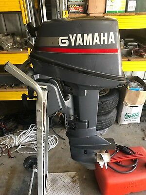 Yamaha 6hp outboard with tank and line, good condition