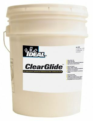 Cable and Wire Pulling Lubricant, 5 gal. Pail, Water Chemical Base, Clear Color