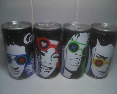 Coca-Cola Soda Cans Pop Art 4 dif Faces Wearing Sunglasses aluminum Canada 280ml