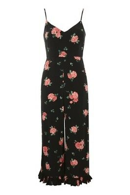 **New without tags black floral nobody's child vintage style jumpsuit size 6**