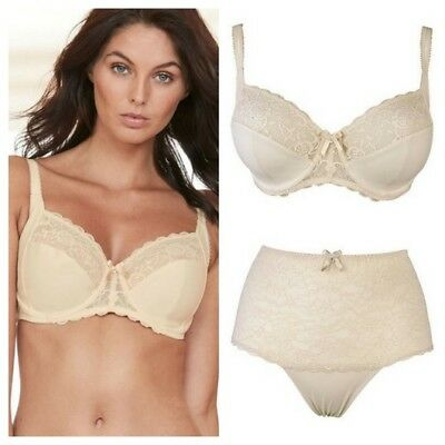 Pour Moi Eden Side Support Underwired Bra or High Waist Brief Oatmeal
