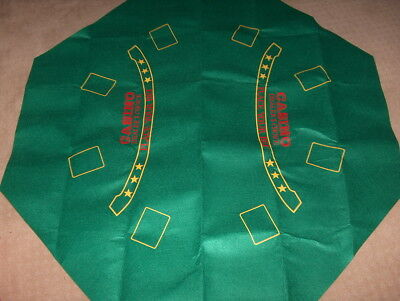 "48"" x 48"" 8 sided octagon Large Green  Poker Table  FELT LAYOUT table cover"