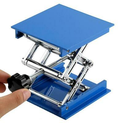 100 x 100mm Blue Electroplated Aluminum Lab Lifting Platform Rack Scissor Jack