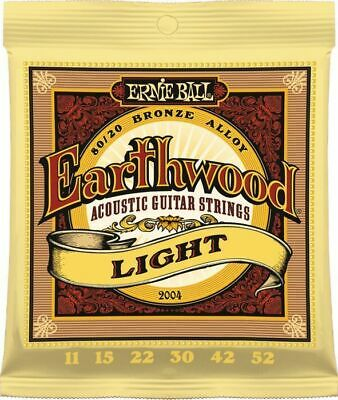 Ernie Ball 2004  Acoustic Guitar Strings Earthwood Light  11-52 - New