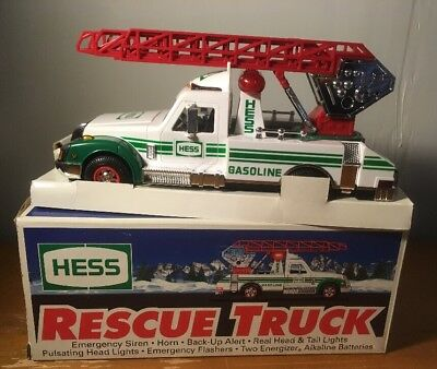 1994 Hess Toy Rescue Truck with Lights Horn and Backup Alert Emergency Siren