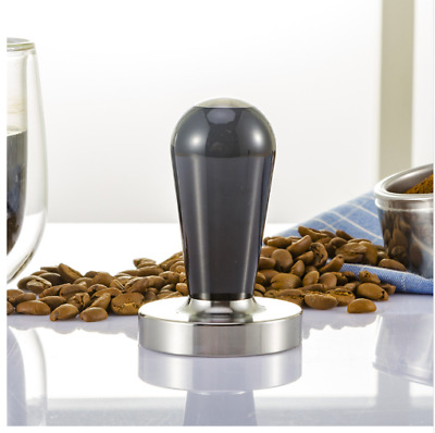 Espresso Coffee Tamper Stainless Steel Handle Smooth Accessory Curve Flat Face