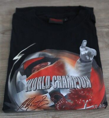 "Michael Schumacher Formel 1 ==> T-Shirt ""WORLD CHAMPION - FERRARI"" in Größe *L*"