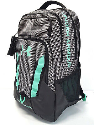 Under Armour Storm Recruit Large Backpack with Laptop Sleeve Black/White/Green B