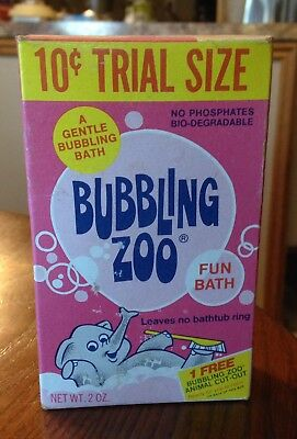 10 Cent Trial Size Bubbling Zoo Fun Bath Soap Box Never Opened