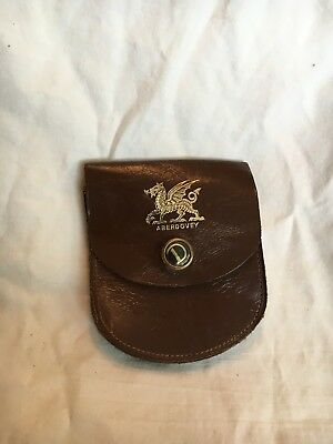 Vintage Collectible Aberdovey Men's Leather Pocket Coin Pouch with Snap