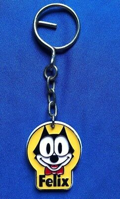 Vintage 1983 FELIX THE CAT Plastic Keychain Key Ring FTCP King Features