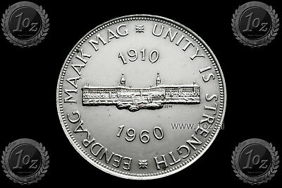 SOUTH AFRICA 5 SHILLINGS 1960 ( 50 anni South Africa ) SILVER Commem. coin * XF