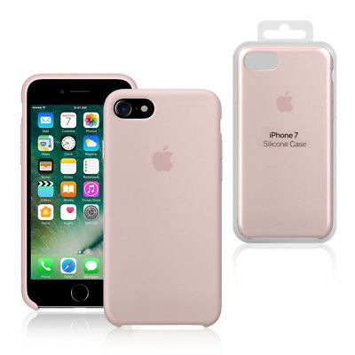 Apple Custodia Cover Per Iphone 7 8 4,7'' Silicone Case Originale Rosa