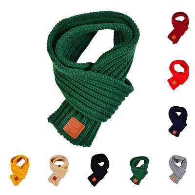 Couple 110cm Child Kid Gift Outdoor Warmer Scarf Knitted Woolen Wraps Neck Scarf