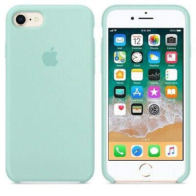 Apple Custodia Cover Per Iphone 7 8 4,7'' Silicone Case Originale Marine Green
