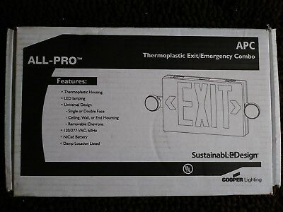 Cooper Lighting APC7R ALL-Pro Thermoplastic Exit/ Emergency Sign