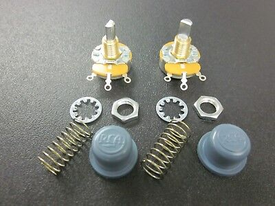 2 RCA Drive In Movie Theatre Speaker KNOBS, SPRINGS and POTENTIOMETERS!  NOS!
