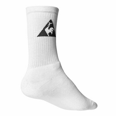 Le Coq Sportif Unisex Crew Socks White Sports packs of 3-6-9-12 uk9-12 eu43-46