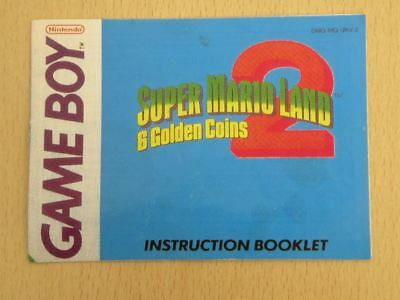 Nintendo Game Boy Game Manual * SUPER MARIO LAND 2 * Manual ONLY Retro 25985
