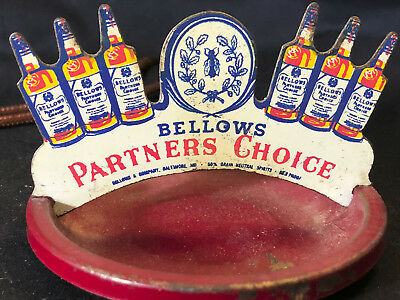 Old Vtg Bellows Partners Choice Metal Ashtray Bellows & Company Baltimore MD