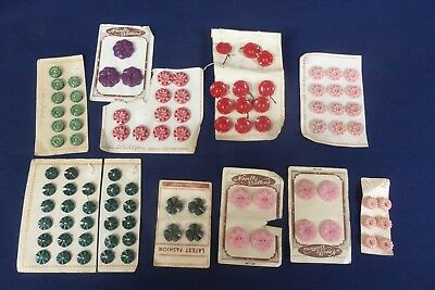 Job lot of Vintage Fancy Button sets, most on cards, Novelty British Manufacture