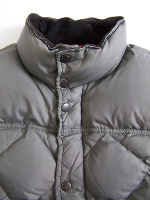 Barbour Down Explorer Gilet Quilted Waistcoat Large Grey MQU007CH71 Vtg BBt158 #