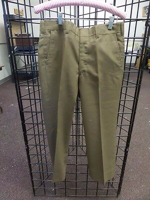"Vintage 1960s 60s Boys Pants Brown Tan Straight Leg 30"" x 22.5"""